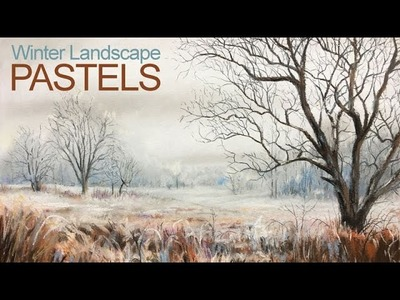 How To Draw a Winter Landscape - Pastel Lesson