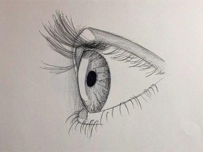 How to draw an eye for beginners (side view) - Alpha Art HD