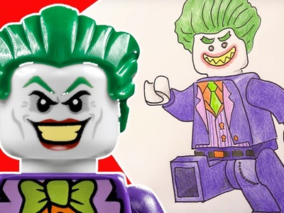 How To Draw and Color Lego Joker! The Lego Batman Movie Drawing Learning Craft |