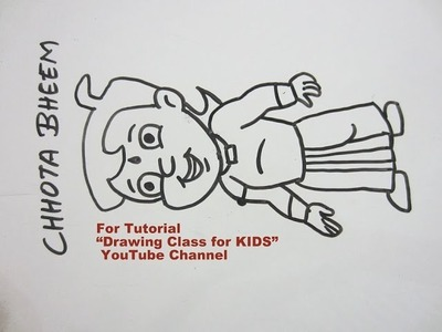 How to Draw- Cute CHHOTA BHEEM Cartoon Step by Step Tutorial for Kids