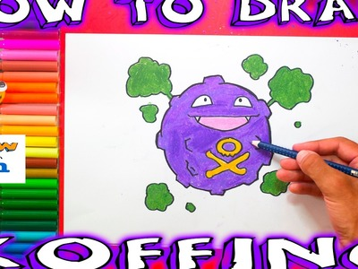 How to Draw Koffing - How to Draw Pokemon