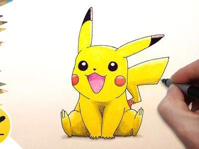 How to Draw Pikachu step by step (Pokemon Go) ✔