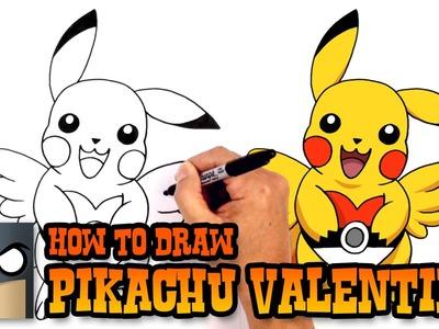 How to Draw Pikachu Valentine   Pokemon Art Tutorial