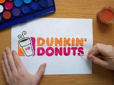 How to draw the Dunkin Donuts logo