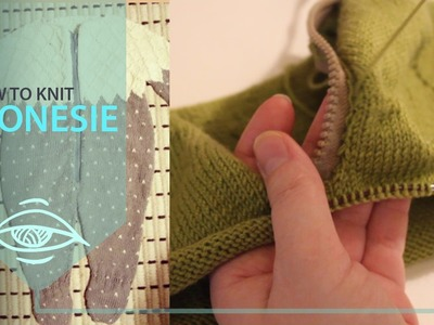 How to knit a onesie | installing the zipper (part 4)