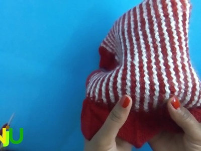 How to knit vertical stripes with two colors without cutting yarn