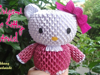 HOW TO MAKE 3D ORIGAMI HELLO KITTY | DIY PAPER HELLO KITTY TUTORIAL