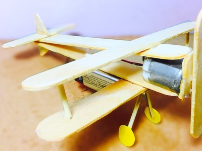 How to make a airplane at home - DC Motor Plane  Wooden(Easy)
