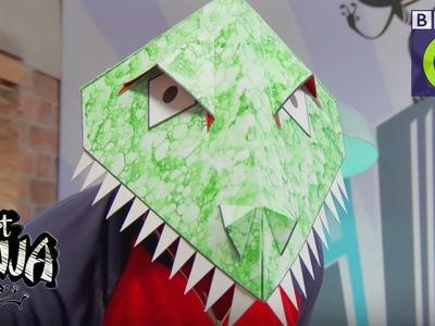 How to make a dinosaur mask | CBBC