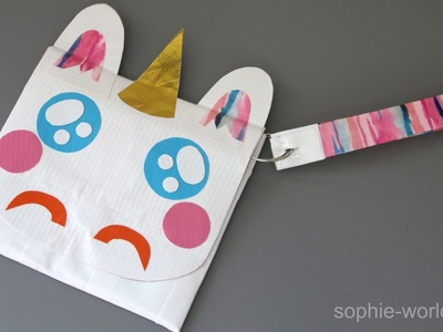 How to Make a Duct Tape Unicorn Clutch | Sophie's World