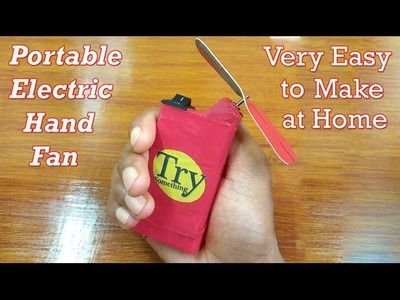 How to Make a Easy Electric Hand Fan at Home