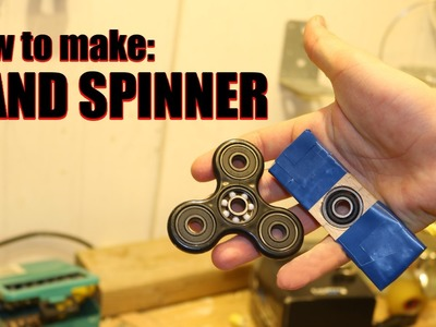 How To Make a HAND SPINNER, FIDGET TOY FOR FREE