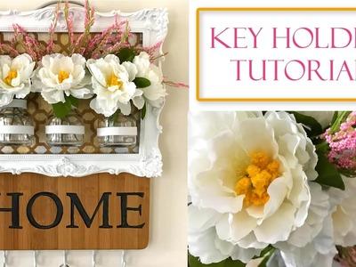How to Make a Key Holder   Framed Floral Vase Plaque