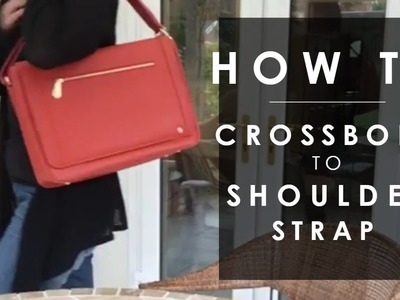 How to make a long handbag strap shorter. crossbody to shoulder strap - Jennifer Hamley
