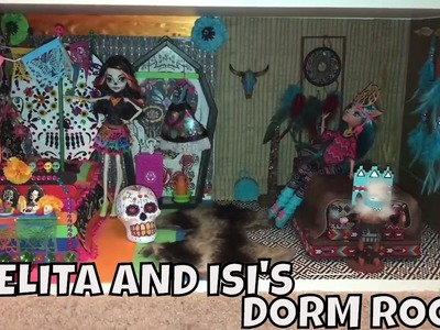 HOW TO MAKE A MONSTER HIGH DORM ROOM FOR SKELITA CALAVERAS AND ISI DAWNDANCER