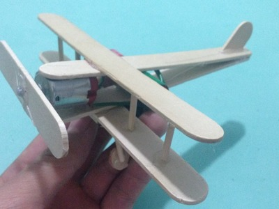 How to make a plane with DC motor 1,5V - toy wooden plane diy