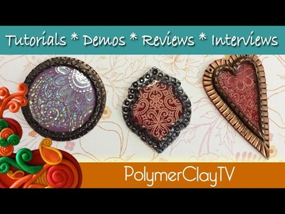 How to make a polymer clay bezel using an extruder and create a shiny Kato Medium glass like finish