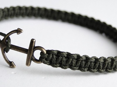 How to Make a Simple Micro Cord Anchor Charm Bracelet- Paracord.Macrame.Friendship