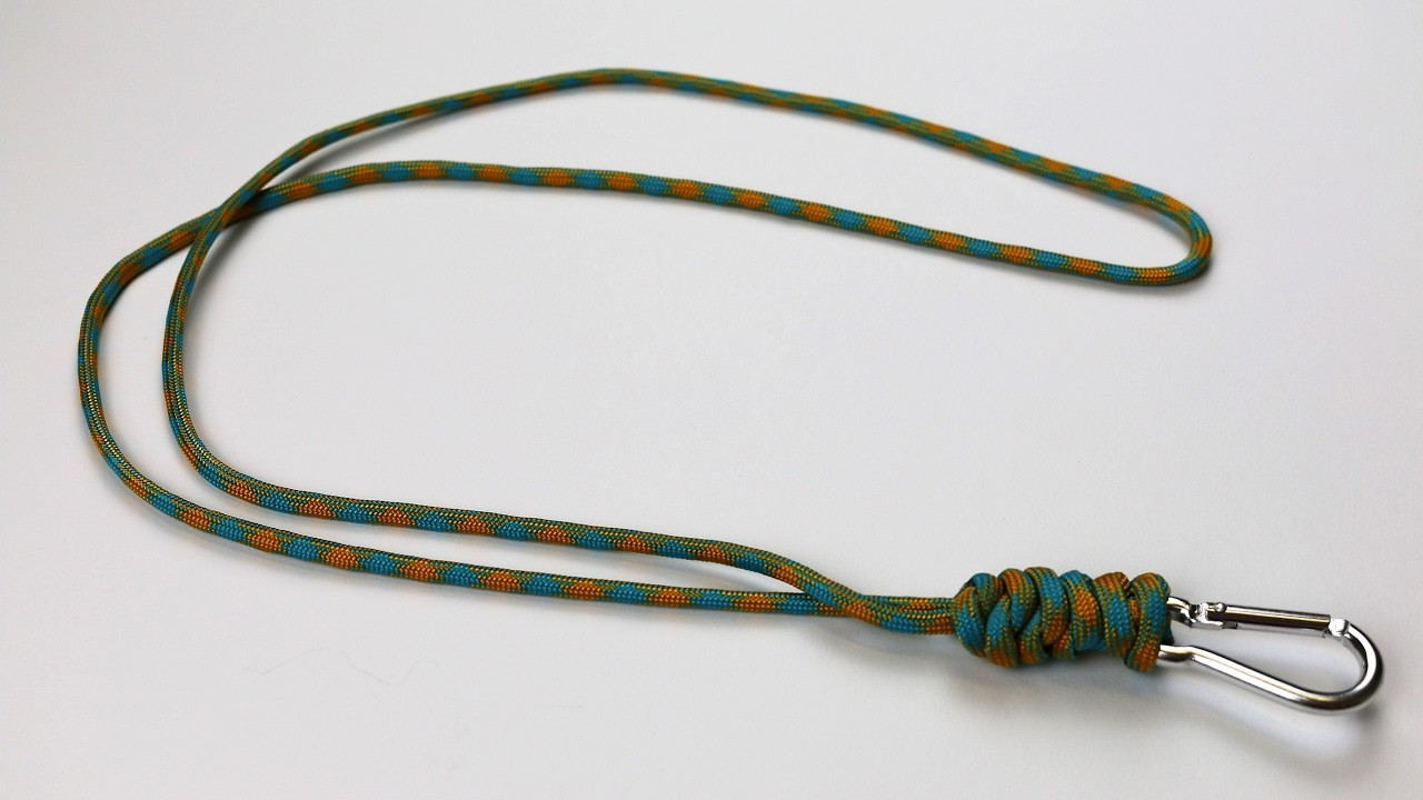 How to make a snake knot paracord lanyard tutorial