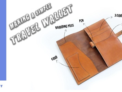 How to Make a Travel Wallet.Leathercraft