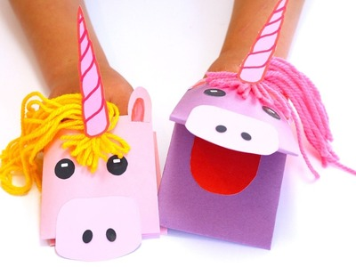 How to Make a Unicorn Paper Hand Puppet