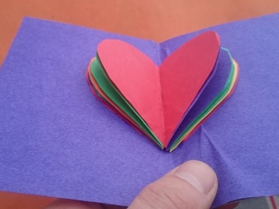 How To Make A Valentine's Day 3D Paper Pop Up Card Heart