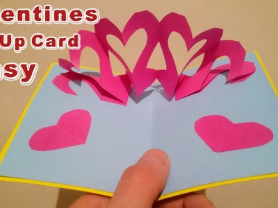 How To Make A Valentines Day 3D Pop Up Heart Card Handmade