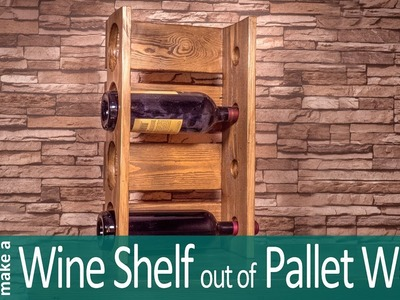 How to make a Wine Rack out of Pallets - Easy Wine Stand