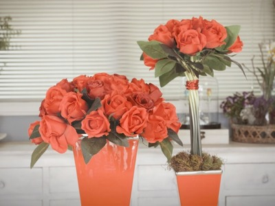 How to Make an Art Deco inspired Red Rose Floristry Arrangement