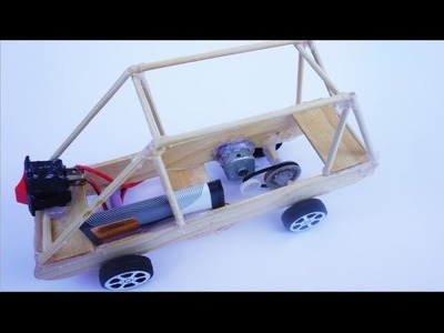 How To Make An Electric Toy Car DIY - Power Tractor Easy Homemade