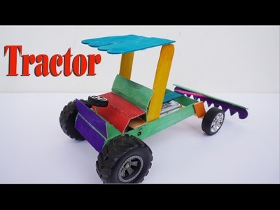 How To Make An Electric Tractor Easy Fast - Simple Idea for Toy Tractor DIY