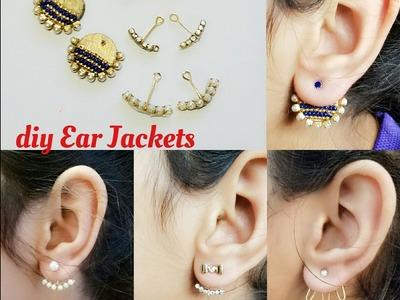 How To Make Back Stud Earrings Double sided Ear studs Ear cuff