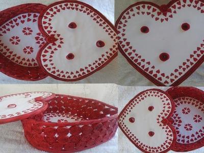 How to make Beautiful hand made Valantine's gift box from newspaper || Newspaper craft
