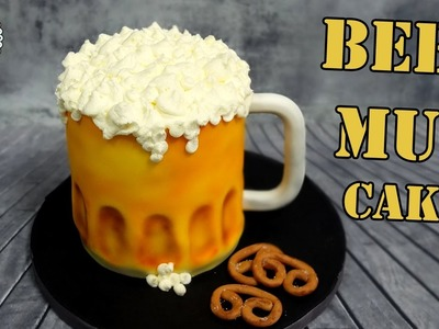 How to make beer mug 3d cake!