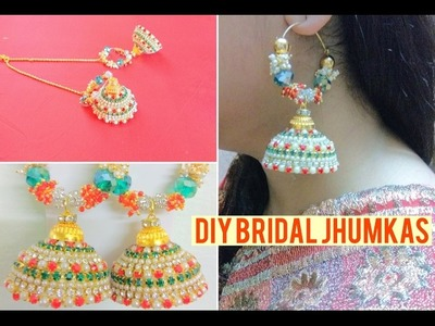 How to make Bridal Jhumka Earrings |Jewelry Series | Craftziners#59