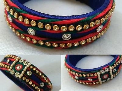 How to make BRIDAL silk thread bangles. !!