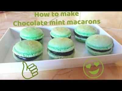 HOW TO MAKE CHOCOLATE MINT MACARON
