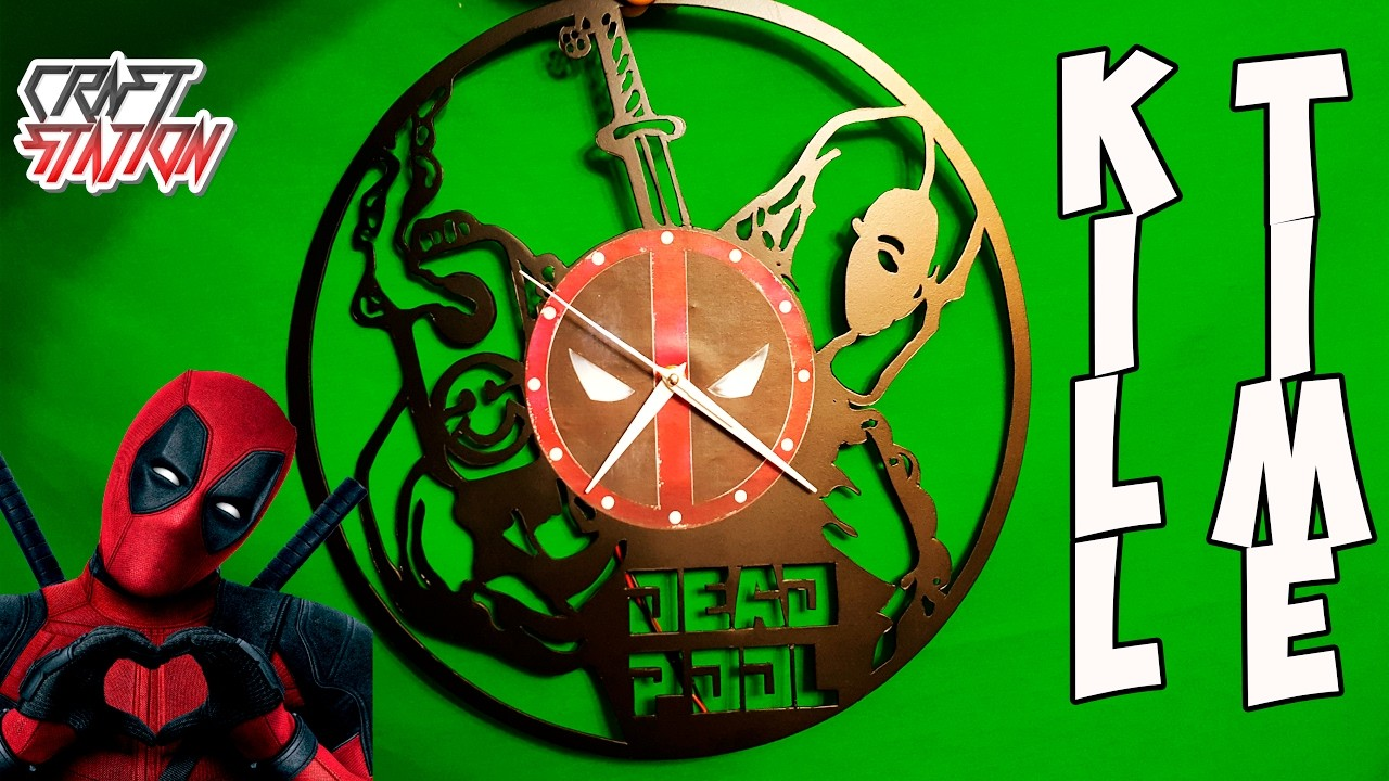 How to make DEADPOOL CLOCK DIY with templates