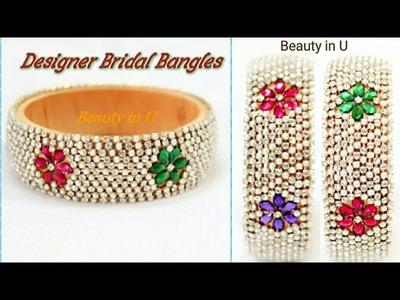 How to make Designer Bridal Bangles at Home | Silk Thread Bridal Bangles| Tutorial