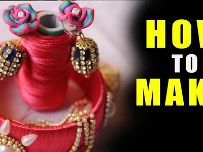 How to Make Earrings with Silk Thread and Ball Chain  | Latest  earrings with thread  | Zooltv