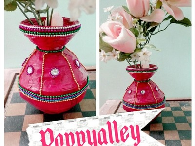 How to make Flower vase using news paper || news paper recycling
