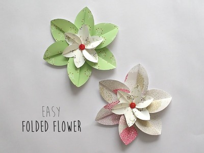 How to make: Folded Flower