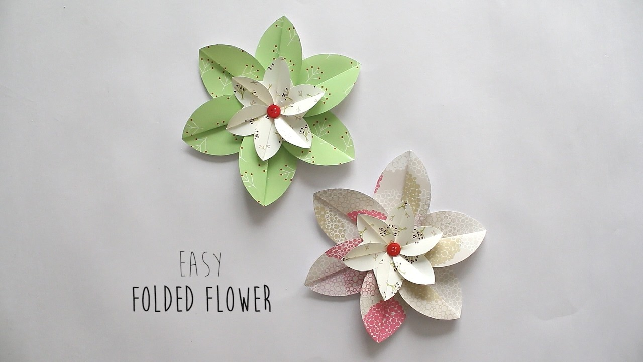 How to make: Folded Flower