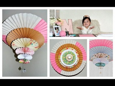 How to make Medallion Spinning Fan.Chandelier ( Tutorial )