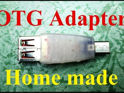 How to make OTG cable.adapter at home