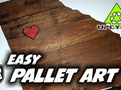 How to Make Pallet Wall Art - Upcycle - HD