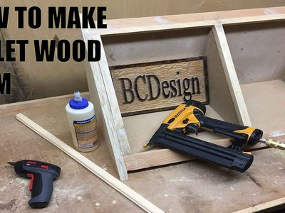 How To Make Pallet Wood Trim