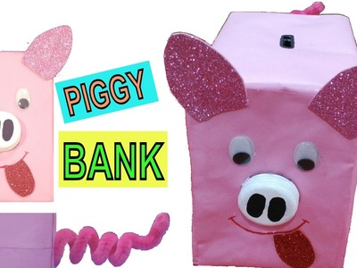 Paper cat bookmarks very simple diy crafts for kids my for How to make a simple piggy bank