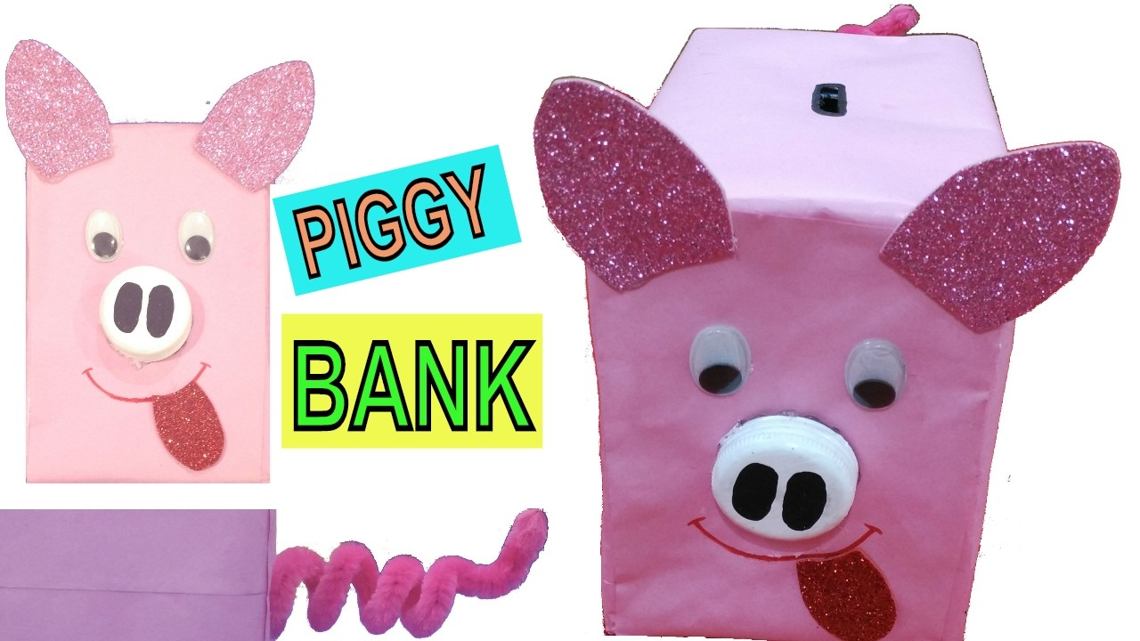 Kids how to make piggy bank best out of waste for How to make a simple piggy bank