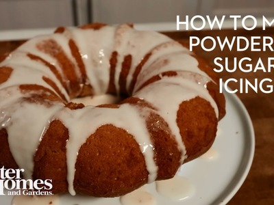 How to Make Powdered Sugar Icing